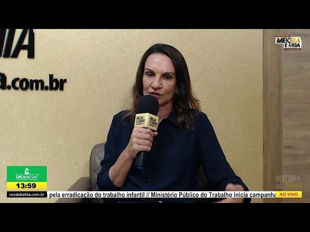 Programa Meio dia e meia LIVE com presidente Chico de Dega e a secretária de Cultura Silvia Brito
