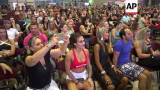 Pole dancing, bodybuilding competition begins