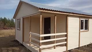 Дачный дом 6х6 с угловой террасой