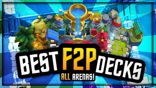 BEST DECKS for F2P TROPHY PUSHING ARENA 8 to 11 :: CLASH ROYALE