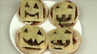 Jack O'lantern Cheeseburger - Halloween Recipe