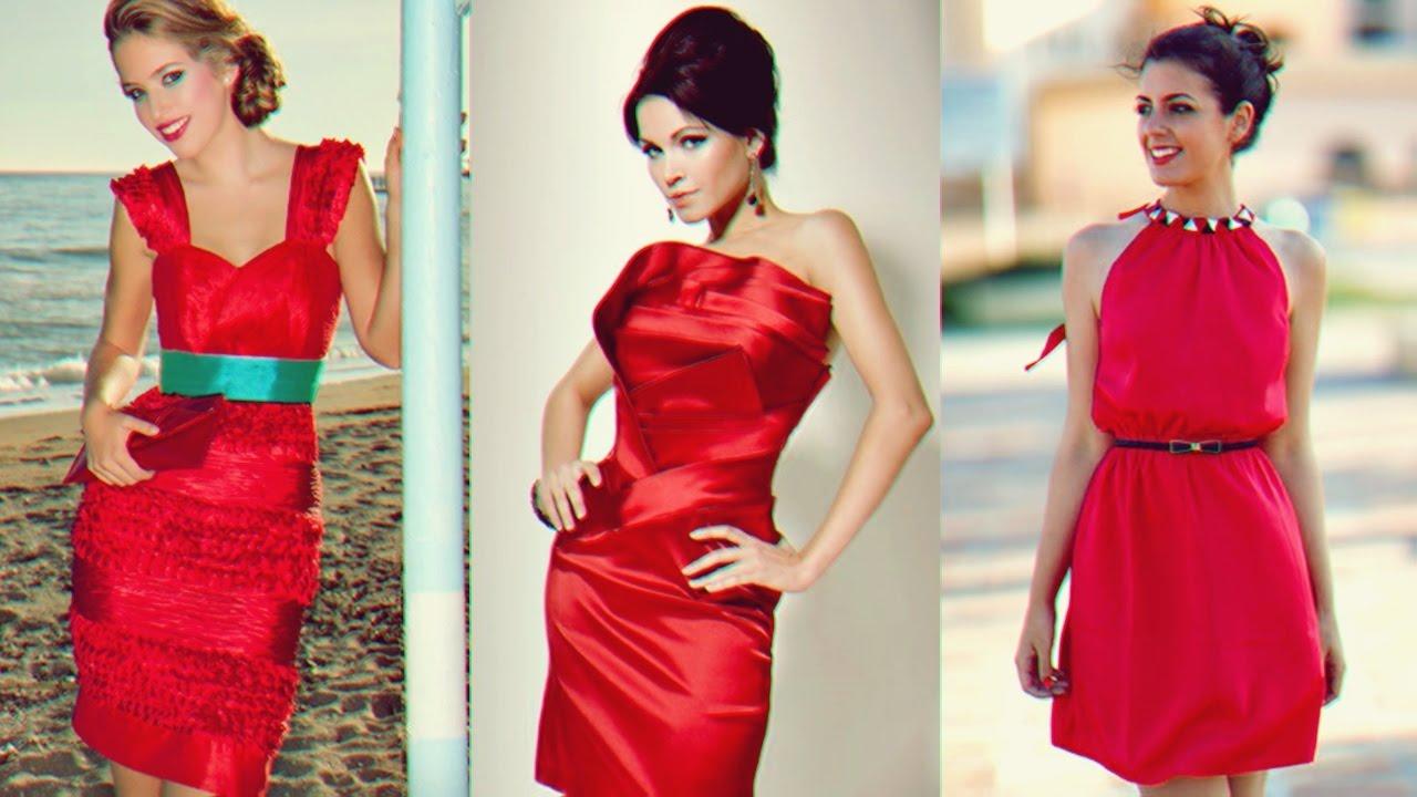 Los Mejores Vestidos Sexy De Fiesta Color Rojo