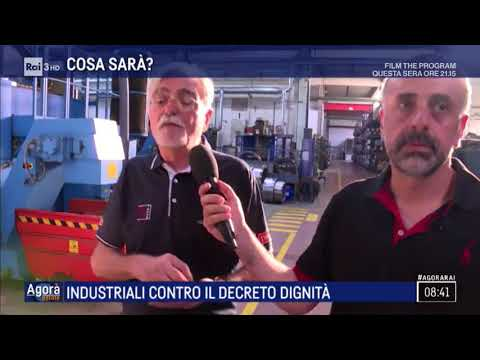 Industriali contro il decreto dignità - Agorà Estate 26/07/2018