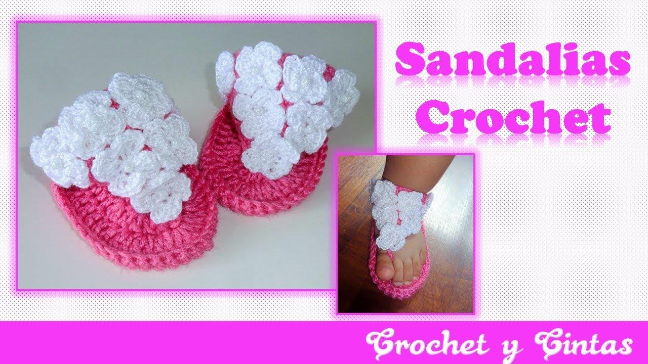 Sandalias de verano para bebés a Crochet – Parte 1 - YouTube