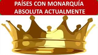 países con monarquía absoluta