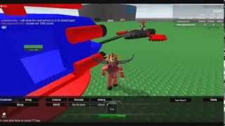 Roblox: Laser Tanks V2.0:Vehicles: The second aircraft: No. 8 QC= Quad copter