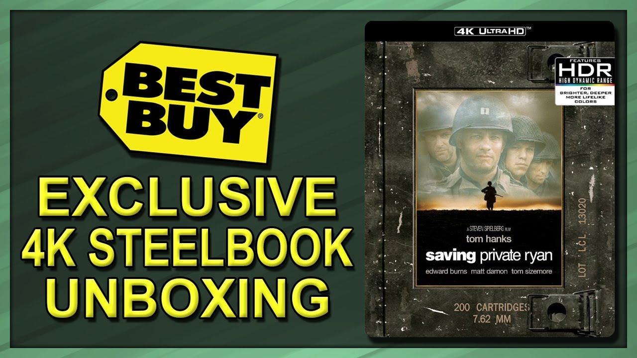 Download Saving Private Ryan Best Buy Exclusive 20th Anniversary 4K Blu-ray SteelBook Unboxing