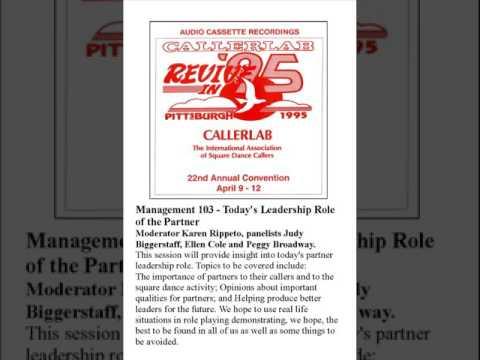 1995 CALLERLAB Conv Partners Leadership