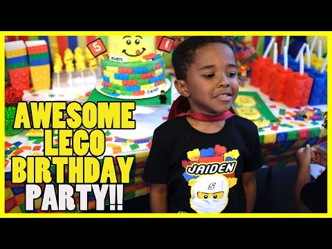 AWESOME LEGO BIRTHDAY PARTY!!