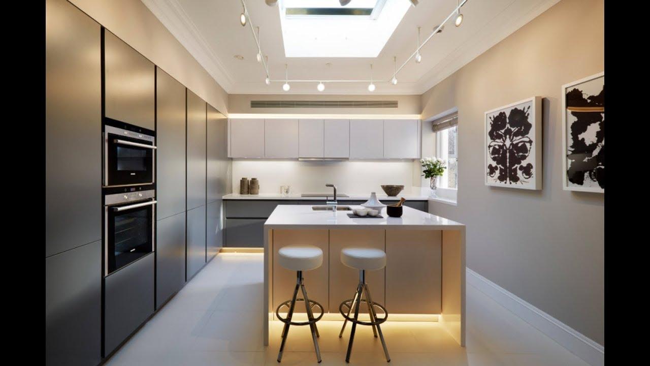 Diseño de cocinas pequeñas de forma lineal y en L