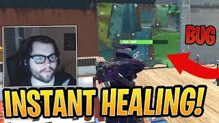 Dakotaz Finds *NEW* Instant Wall Healing Bug with BUFFED Deagle! - Fortnite Best and Funny Moments