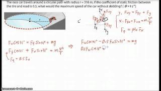 Physics 12 Problem: Banked circular Track