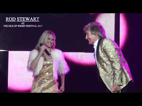 Rod Stewart at the Isle of Wight Festival 2017