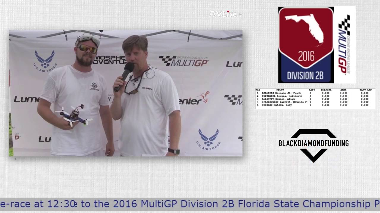 2016 MultiGP 2B Finals - Interview with Darrin Conley From Atmospheric Adventures