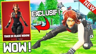 ON THE EXCLUSIVE SKIN MARVEL ''BLACK WIDOW'' ON FORTNITE!