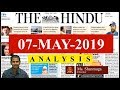 Current Affairs | 7th May 2019 | The Hindu News Analysis -  UPSC Prelims 2019