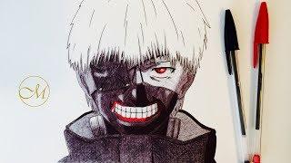 Dessiner kaneki ken avec des stylos bic ! / drawing kaneki ken