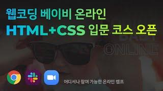 HTML+CSS 입문자를 위한 온라인 라이브 코스 오픈…