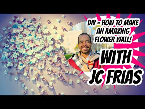 Diy How To Make Amazing Flower Wall Backdrop Photo Booth
