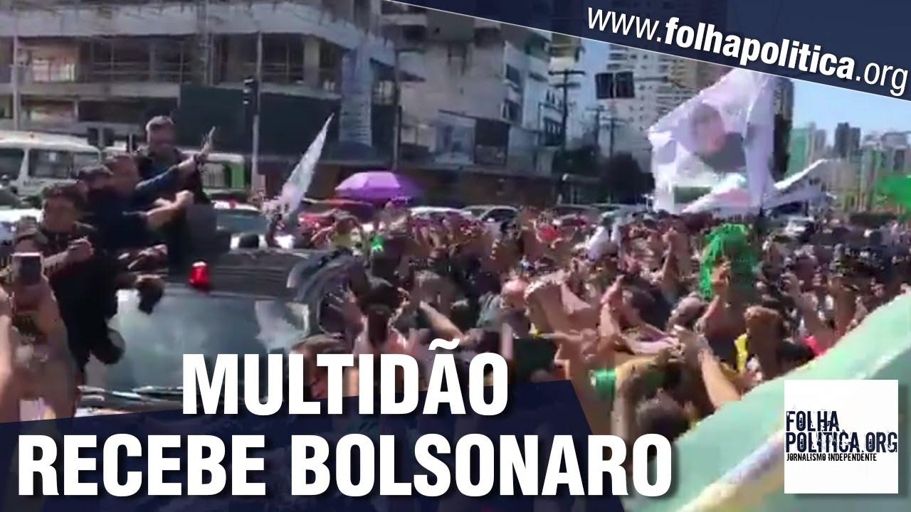 Bolsonaro chega a Belém e é recebido por multidão de cidadãos em manifestação