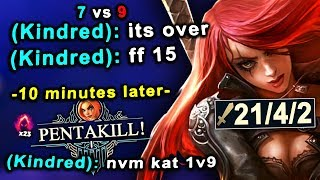 From a 15 minute surrender to a 1v5 PENTAKILL... just Katarina things
