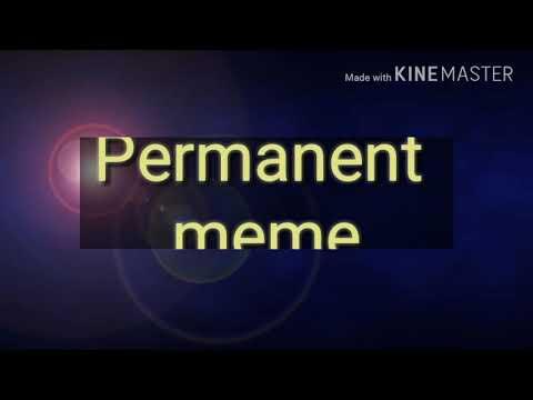 Permanent Meme /\ NOT DONE