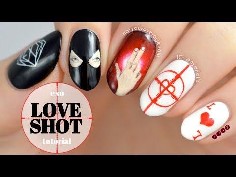 Exo Love Shot Nail Art Tutorial