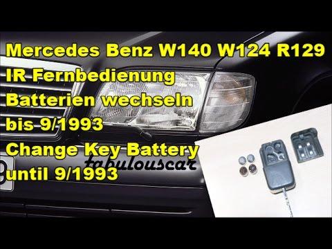 Schlüssel Fernbedienung Batterien wechseln | Key battery ...