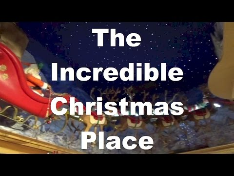 THE INCREDIBLE CHRISTMAS PLACE Pigeon Forge TN Santa Claus, Ornaments & Rudolph
