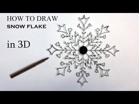 schneeflocke zeichnen f r anf nger 3d effekt zeichnen lernen. Black Bedroom Furniture Sets. Home Design Ideas