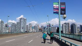 Vancouver WALK & EVENT: 2018 VANCOUVER SUN RUN 10K, Pt. 12 - K9-K10 FINISH LINE (Cambie to BC Place)