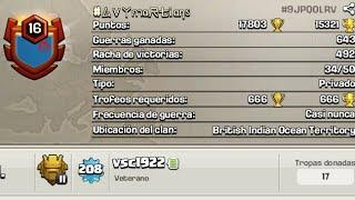 #6ayMartians*El Clan Con Mejor Racha De Guerra Podría Ser Derrotado, CLASH OF CLANS*😱