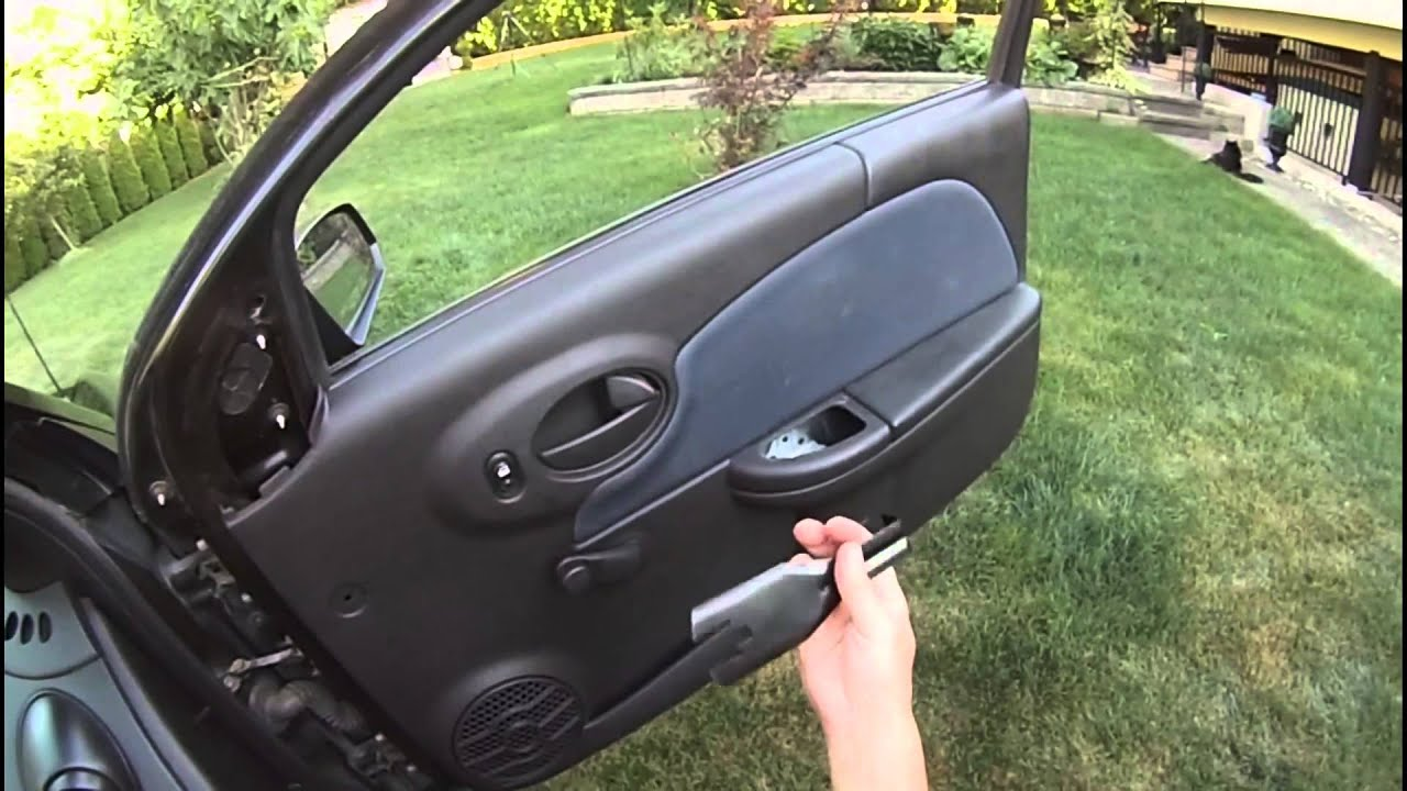 Diy how to remove a saturn ion door panel youtube vanachro Gallery