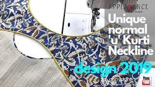 Kurti Neckline Creative Unique normal'u'Kurti Neckline design 2019