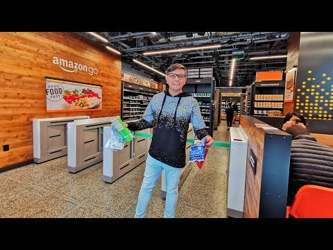 Shopping At World's Most Advanced Shopping Store - Amazon Go!