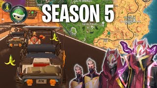 Fortnite Season 5 (Golf Kart, Mario Kart, & New Map Funny Moments)