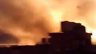 תקיפה ב חאן יונס עזה אש ב דרום