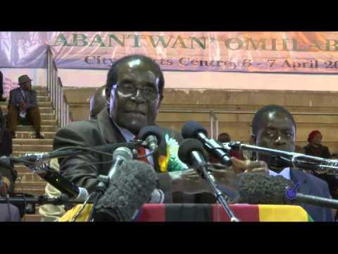PRESIDENT MUGABE MEET WAR VETS