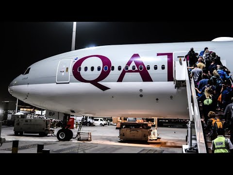 16 HOURS in ECONOMY CLASS | Qatar Airways | Boeing 777-200LR