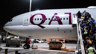 16 HOURS in ECONOMY CLASS   Qatar Airways   Boeing 777-200LR   Doha - Auckland