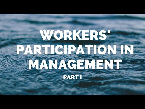 Workers Participation In Management (HRM) - Part I