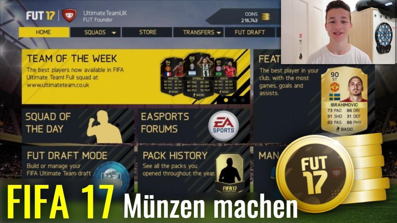 Fifa 17 So Bekommst Du In Fifa 17 Sehr Leicht Münzen Deutsch