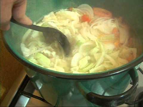 receta para descender de inquietud con sopa de col