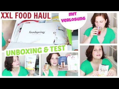 XXL Food Haul | Unboxing & Test Foodspring Fitness Food | & Verlosung Wert 60 EURO!
