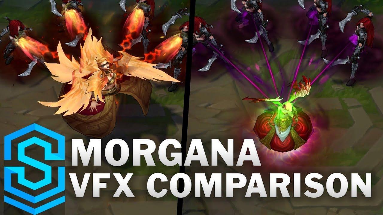 Morgana Update - All Skins Comparison   League Of Legends