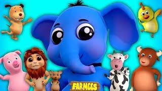 som de animais em portugues | animais canções para crianças | Animals Sound Song | Farmees Português