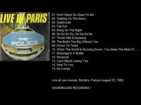 THE POLICE - Beziers 22-08-1980 Les Arenes France (FULL SHOW) (SOUNDBOARD RECORDING)