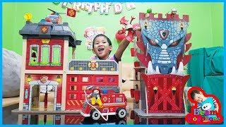 น้องบีม | รีวิวของเล่นไม้ฮาเป้ ปราสาทมังกร VS สถานีดับเพลิง Toys