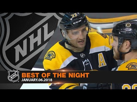 Hejduk, Bergeron highlight best of a high-offense night