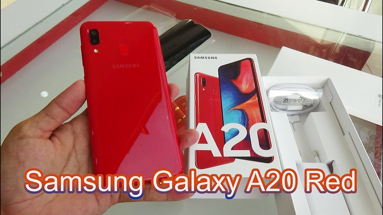 Unboxing Samsung Galaxy A20 Red color - YouTube